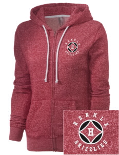Henkle Middle School Bears Embroidered Women's Marled Full-Zip Hooded Sweatshirt