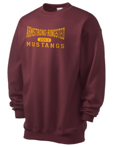 Armstrong-Ringsted Middle School Mustangs Men's 7.8 oz Lightweight Crewneck Sweatshirt