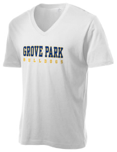 Grove Park Elementary School Bulldogs Alternative Men's 3.7 oz Basic V-Neck T-Shirt