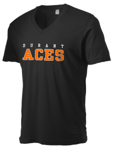 Durant Elementary School Aces Alternative Men's 3.7 oz Basic V-Neck T-Shirt