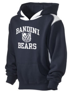 Bandini Elementary School Bears Kid's Pullover Hooded Sweatshirt with Contrast Color