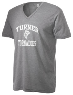 Turner High School Tornadoes Alternative Men's 3.7 oz Basic V-Neck T-Shirt