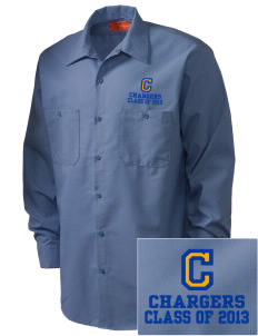 Cameron Elementary School Chargers Embroidered Men's Industrial Work Shirt - Regular