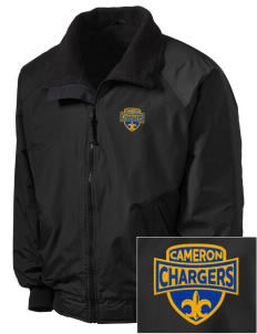 Cameron Elementary School Chargers Embroidered Tall Men's Challenger Jacket