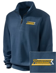Cameron Elementary School Chargers Embroidered Men's 1/4-Zip Sweatshirt