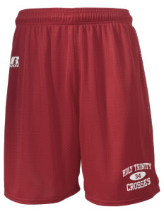 "Holy Trinity School Crosses  Russell Men's Mesh Shorts, 7"" Inseam"