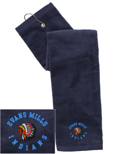 Evans Mills Primary School Indians Embroidered Hand Towel with Grommet