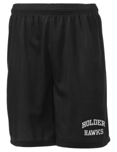 "Holder Elementary School Hawks Men's Mesh Shorts, 7-1/2"" Inseam"