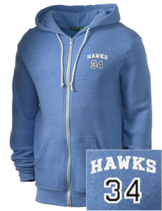 Holder Elementary School Hawks Embroidered Alternative Men's Rocky Zip Hooded Sweatshirt
