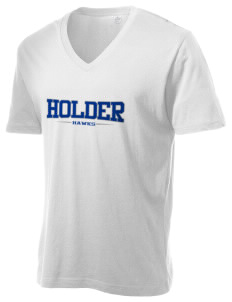 Holder Elementary School Hawks Alternative Men's 3.7 oz Basic V-Neck T-Shirt