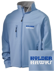 Holder Elementary School Hawks Embroidered Men's Soft Shell Jacket