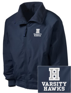 Holder Elementary School Hawks Embroidered Men's Fleece-Lined Jacket
