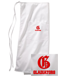 Goodlow Elementary Magnet School Gladiators Embroidered Full Bistro Bib Apron