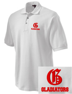 Goodlow Elementary Magnet School Gladiators Embroidered Tall Men's Pique Polo