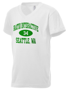 Ratio Interactive Seattle, WA Kid's V-Neck Jersey T-Shirt