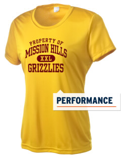 Mission Hills High School Grizzlies Women's Competitor Performance T-Shirt