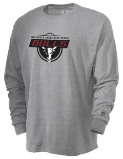 Wiregrass Ranch High School Bulls  Russell Men's Long Sleeve T-Shirt