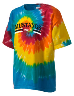 Asa Mercer Middle High Mustangs Kid's Tie-Dye T-Shirt