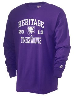 Heritage High School Timberwolves  Russell Men's Long Sleeve T-Shirt