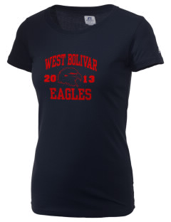 West Bolivar High School Eagles  Russell Women's Campus T-Shirt