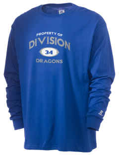 Levittown Division High School Dragons  Russell Men's Long Sleeve T-Shirt