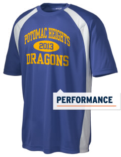 Potomac Heights Elementary School Dragons Men's Dry Zone Colorblock T-Shirt