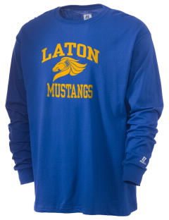 Laton High School Mustangs  Russell Men's Long Sleeve T-Shirt