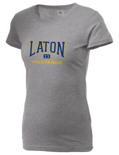 Laton High School Mustangs  Russell Women's Campus T-Shirt