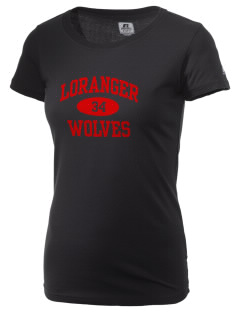Loranger High School Wolves  Russell Women's Campus T-Shirt