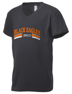 South Charleston High School Black Eagles Kid's V-Neck Jersey T-Shirt