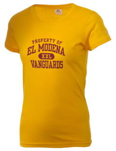 El Modena High School Vanguards  Russell Women's Campus T-Shirt