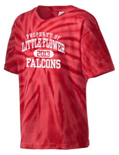 Little Flower Catholic School Falcons Kid's Tie-Dye T-Shirt