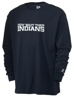 Our Lady Of Perpetual Help School Indians  Russell Men's Long Sleeve T-Shirt