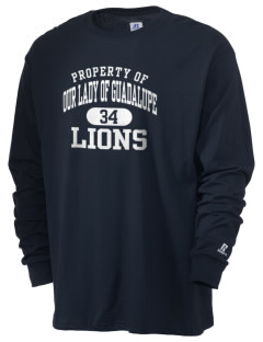 Our Lady Of Guadalupe School Lions  Russell Men's Long Sleeve T-Shirt