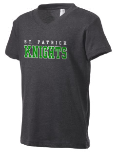 Saint Patrick School Knights Kid's V-Neck Jersey T-Shirt