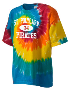Saint Polycarp Elementary School Pirates Kid's Tie-Dye T-Shirt
