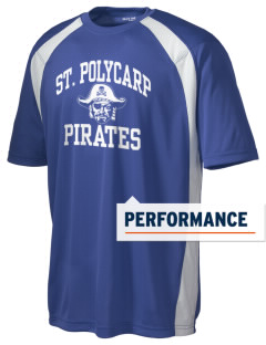 Saint Polycarp Elementary School Pirates Men's Dry Zone Colorblock T-Shirt