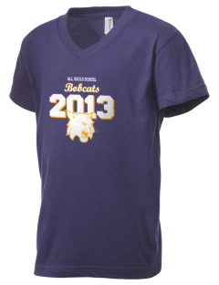 All Souls School Bobcats Kid's V-Neck Jersey T-Shirt