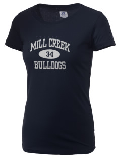 Mill Creek Middle School Bulldogs  Russell Women's Campus T-Shirt