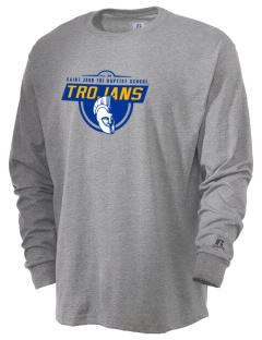 Saint John The Baptist School Trojans  Russell Men's Long Sleeve T-Shirt