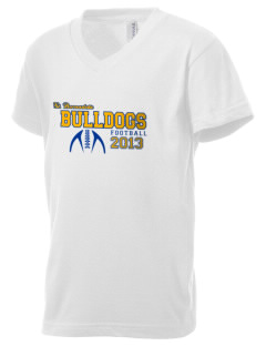 Saint Bernadette School Bulldogs Kid's V-Neck Jersey T-Shirt