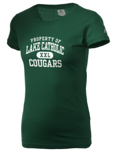 Mentor Lake Catholic High School Cougars  Russell Women's Campus T-Shirt