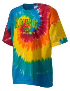 Holy Family School Dragons Kid's Tie-Dye T-Shirt