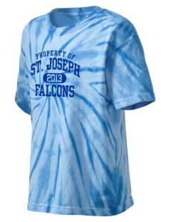 Saint Joseph School Falcons Kid's Tie-Dye T-Shirt