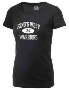King's West School Warriors  Russell Women's Campus T-Shirt