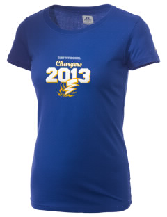 Saint Peter School Chargers  Russell Women's Campus T-Shirt