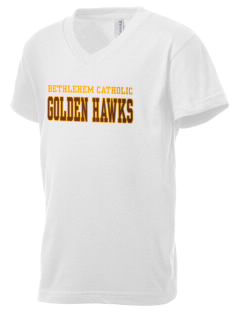 Bethlehem Catholic High School Golden Hawks Kid's V-Neck Jersey T-Shirt