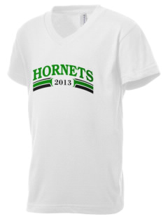 Saint Margaret Mary School Hornets Kid's V-Neck Jersey T-Shirt