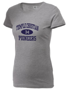 Temple Christian School Pioneers  Russell Women's Campus T-Shirt
