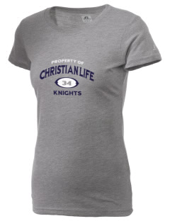Christian Life School Knights  Russell Women's Campus T-Shirt